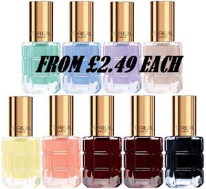L'OREAL Color Riche L'Huile Nail Polish 13.5ml - CHOOSE - NEW *Multibuy Saving*