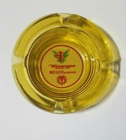 Vintage Thunderbird & Red Lion Motor Inns Amber Round Glass Ashtray