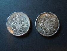 J882 COINS  CANADA 1962+1963  SILVER  50  CENTS  AU/UNC