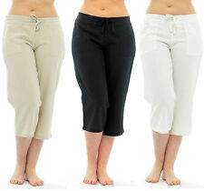 Linen Mid Trousers Plus Size for Women
