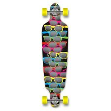 Yocaher Punked Drop Through Shades Black Longboard Complete