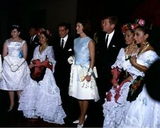 President and Mrs. John F. Kennedy at ballet in Mexico City 1962 New 8x10 Photo