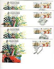 Australia1986 - Grand Prix Adelaide Set 4 Pictorial Covers Unaddressed
