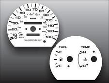 Fits 1991-1992 Nissan Sentra Non-Tach No Clock Dash Cluster White Face Gauges