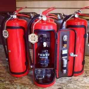 Fire extinguisher mini bar RED 8L camping picnic best men's gift + accessories