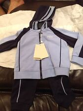 New Armani Junior  Boys Logo Track suit set Pants hoodie top 12 Months  $180