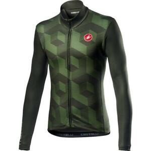 Castelli Cubi FZ Bicycle Cycle Bike Jersey Military Green