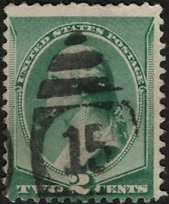 US - 1887 - 2 Cents Green George Washington Banknote Issue 213 Numberical Killer