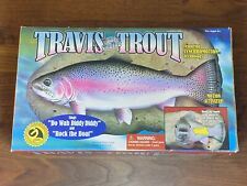 Vtg 1999 Travis The Singing Trout Gemmy Animated Fish Wall Mount New