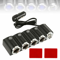 4 Way Car Cigarette Lighter Splitter Multi Socket Dual USB Plug Charger RF