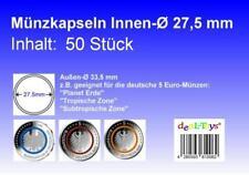 50 Münzkapseln 27,5mm, geeignet für 5 Euro Münze...