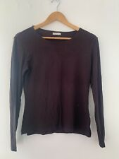 Ladies Top Part Two M/12 Brown Long Sleeve Casual Cotton <JS4254