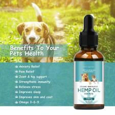 Premium Organic Natural Hemp Seed Oil Omega 3  For Dogs Cats Rabbits Pets - 30ml