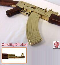 HEAVY WEIGHT EURO WOOD METAL REPLICA GOLD AK-47 FULL STOCK MOVIE PROP GUN EKOL