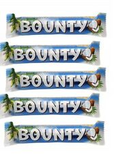 5 Pcs/Lot BOUNTY MILK and COCONUT CHOCOLATE BARS Party Bag Sweets 5 x 57g 2oz