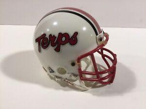 Maryland Terrapins Vintage Riddell Mini Helmet 3 5/8 with Metal Face Mask