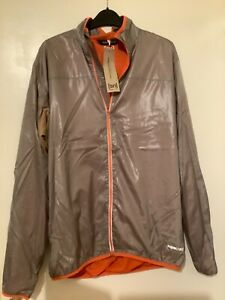 Super natural men's mantis running / cycle sport jacket grey /orange size large