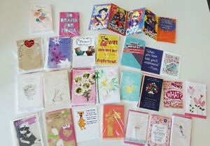 New 50 different card LOT Mothers Day American Greetings cards Wonder Woman more