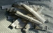 NOS Swiss TYPE 4pc lot #11319 19mm White Rubber Divers curved watch straps