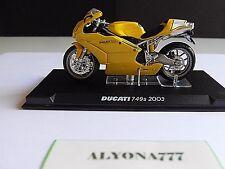 1/24 Ixo Ducati 749 S Yellow with White Bike Motorcycle 1:24 Altaya / Ixo *New*