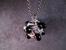 HANDMADE Lampwork Glass DOG Pendant BEAD OOAK BrOOkLyN MoNsTeRs~Made in USA