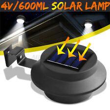 3 LED Solar Gutter Light Fence Street Garden Yard Pathway Lawn Sink Wall Lamp