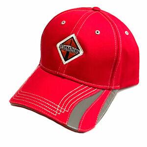 International Trucks Cap - Reflective Safety Stripe Embroidered Red Hat