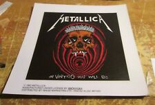 METALLICA STICKER 1993  COLLECTIBLE RARE VINTAGE  STATIC WINDOW CLING