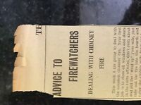 M3-8a ephemera 1941 dagenham article ww2 advice to firewatchers