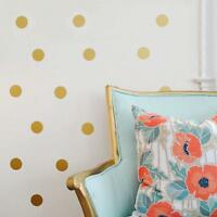 GOLD SPOTS POLKA DOTS Wall Art Sticker Kit decal graphic nursery child's bedroom