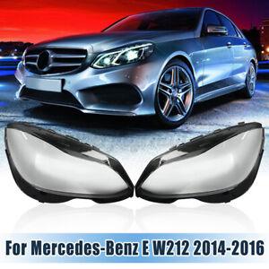 Paar Scheinwerferglas Glas Scheinwerfer 4769886123 Für Benz E W212 Facelift QT