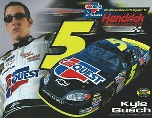 2005 KYLE BUSCH #5 NASCAR NEXTEL CUP SERIES CARQUEST AUTO PARTS POSTCARD