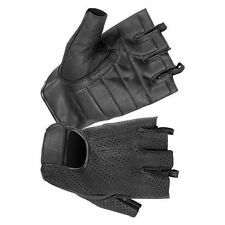 HUGGER Weatherlite Fingerless Motorcycle Gloves Gel Padded Palm Summer Riding
