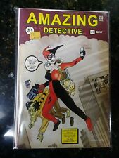 Harley Quinn cover variant Amazing Detective 1... RARE LIMITED EDITION with COA