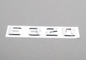 Mercedes-Benz E-Class Genuine Emblem - E320 Trunk Insignia New
