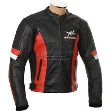 Mv Agusta Corse Schwarz Rot Motorrad Gepanzerte Echtleder Biker Jacke