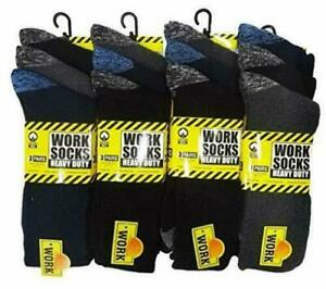 1-12 Pairs Mens Ultimate Work Boot Socks Size 6-11 Cushion Sole Reinforced Toe
