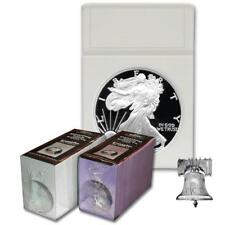 25 BCW American Silver Eagle Coin Holder Display Slab INSERTS 40.6mm White Foam
