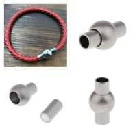 5X Magnetic Clasps Fit 4 mm Leather Cord Bracelet Connectors For DIY Jewelry