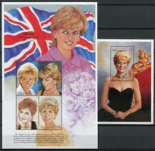 Dominica 1997 Lady Diana Royalty Flagge Flag 2435-2438 Block 346 Postfrisch MNH