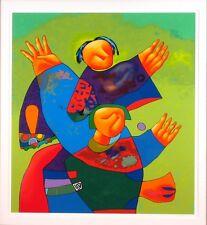 Contemporary Art Serigraph Dmitri Strizhov Holiday and Their Devotees