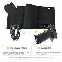 Tactical Belly Band Holster Concealed Carry Pistol Hidden Gun Belt Waist US
