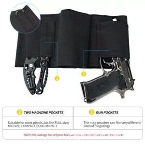 Tactical Belly Band Holster Concealed Carry Pistol Hidden Gun Belt Waist US