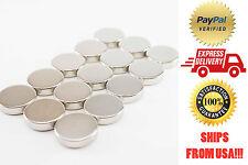 N52 20mm x 5mm Round Neodymium NdFeB Magnets 15 pieces Ni-Cu-Ni Coated