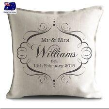 45x45cm Personalised Customised Wedding Couple Cushion Cover