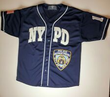 NYPD Baseball Jersey Rare Collectible Large New York Police Dept. Shirt 2002