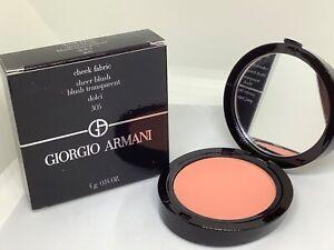 GIORGIO ARMANI CHEEK FABRIC SHEER BLUSH TRANSPARENT DOLCI #305 NEW BOX .14OZ