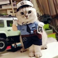 Pet Dog Costume Policeman Clothes For Cat Halloween Dress Up Apparel Kit