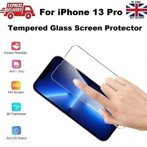 Full Cover Shatter Proof REAL Tempered Glass Screen Protector for iPhone 13 PRO