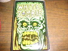 White Zombie Sticker Postcard.  4 inch by 6 inch peel off adhesive postcard.1992
